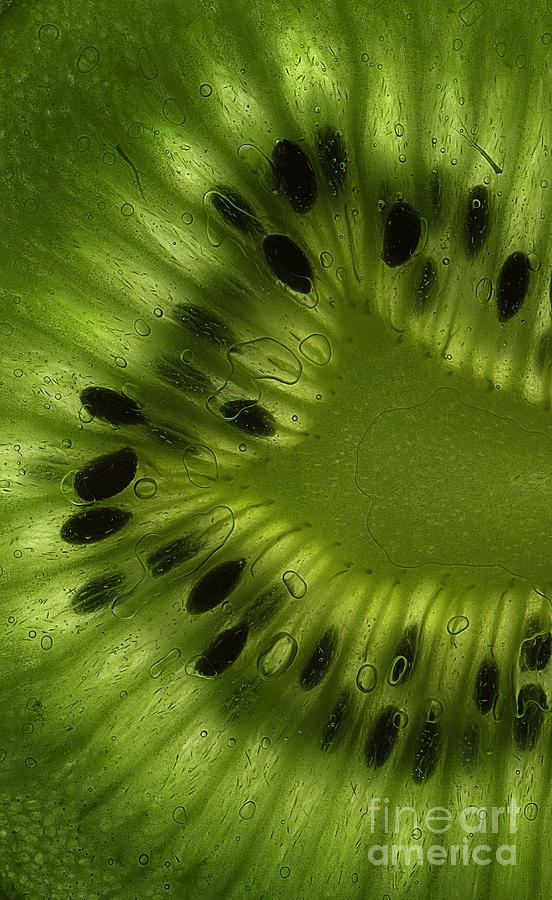 Macro Kiwi Slice Photograph
