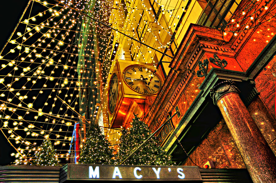 Macys Christmas Lights Photograph  - Macys Christmas Lights Fine Art Print