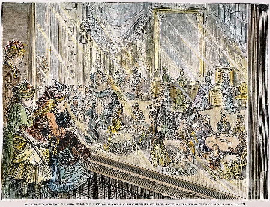 Macys Holiday Display, 1876 Photograph