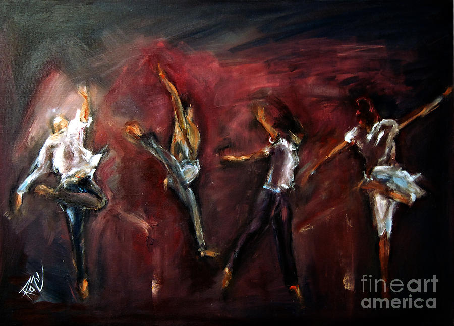 Mad Dance Painting  - Mad Dance Fine Art Print