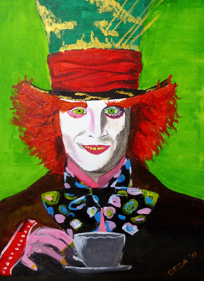 Mad Hatter Painting  - Mad Hatter Fine Art Print