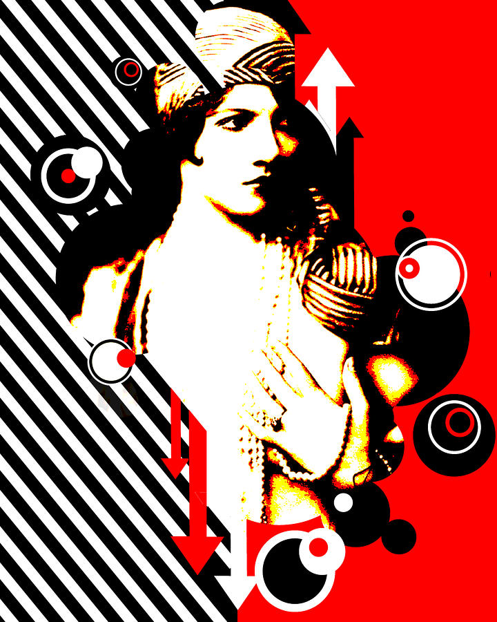Madam Stripe Digital Art  - Madam Stripe Fine Art Print