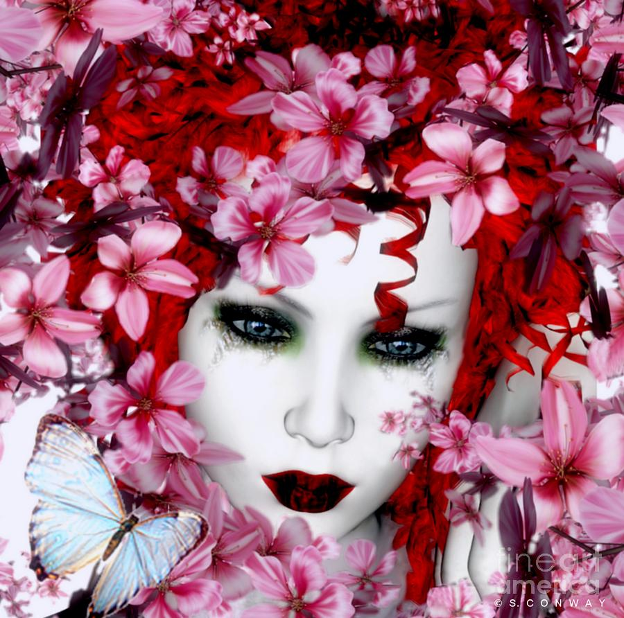 Madame Butterfly Digital Art  - Madame Butterfly Fine Art Print