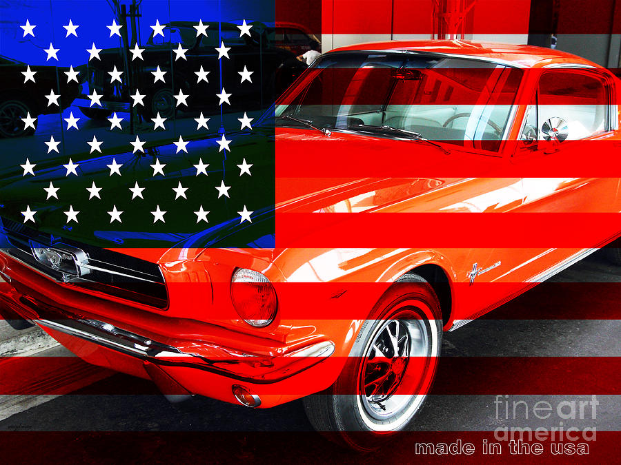 Transportation Photograph - Made In The Usa . Ford Mustang by Wingsdomain Art and Photography