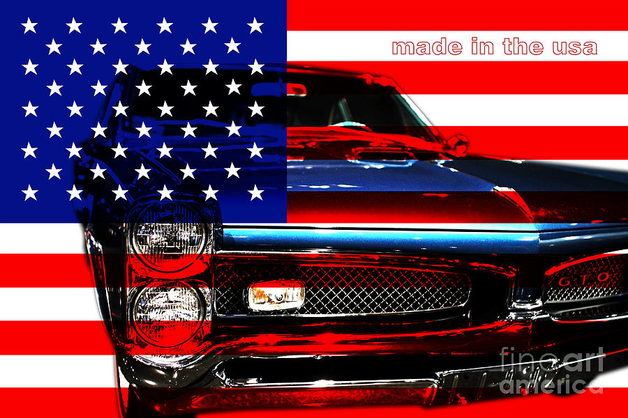 Made In The Usa . Pontiac Gto Photograph  - Made In The Usa . Pontiac Gto Fine Art Print
