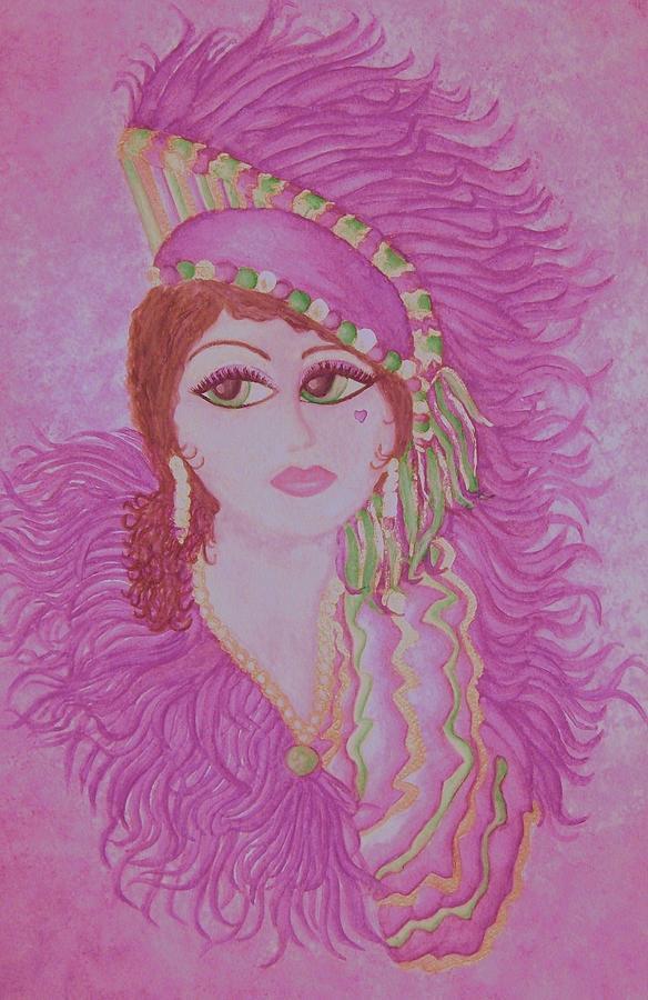 Mademoiselle De Mardi Gras Painting