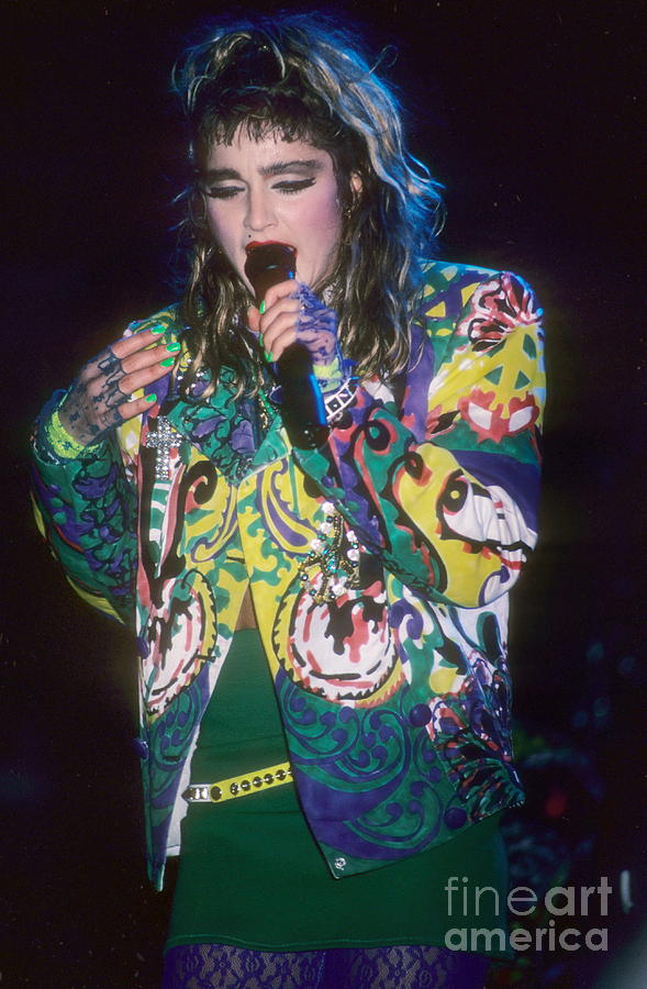 Madonna Photograph - Madonna 1985 by David Plastik
