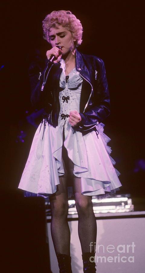 Madonna Photograph - Madonna 1987 B by David Plastik