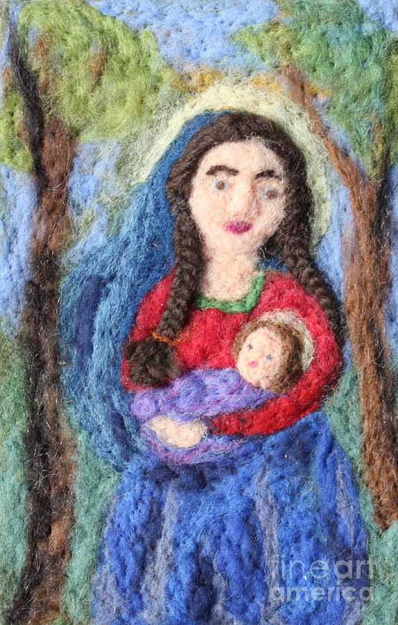 Madonna And Child Tapestry - Textile