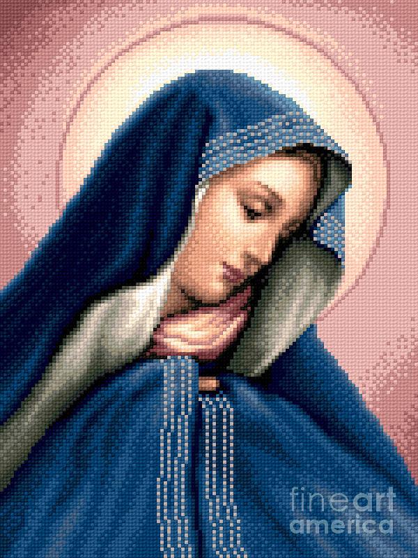 Madonna Dolorosa Tapestry - Textile