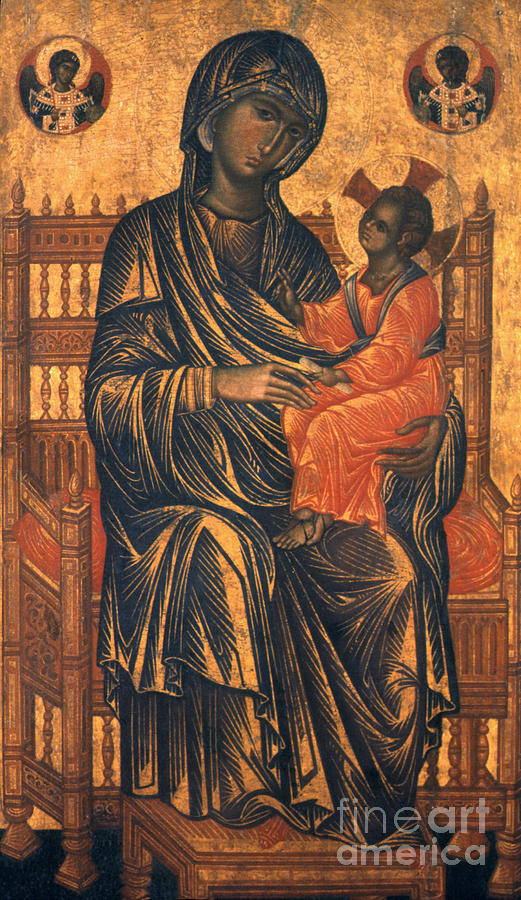 Madonna Icon, 13th Century Photograph  - Madonna Icon, 13th Century Fine Art Print