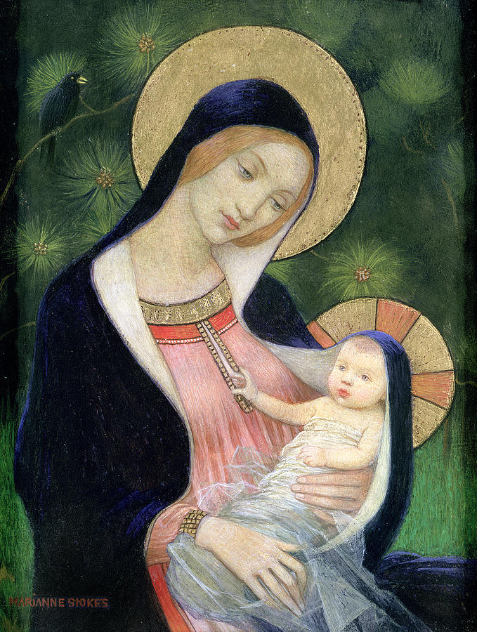 Madonna Of The Fir Tree Painting
