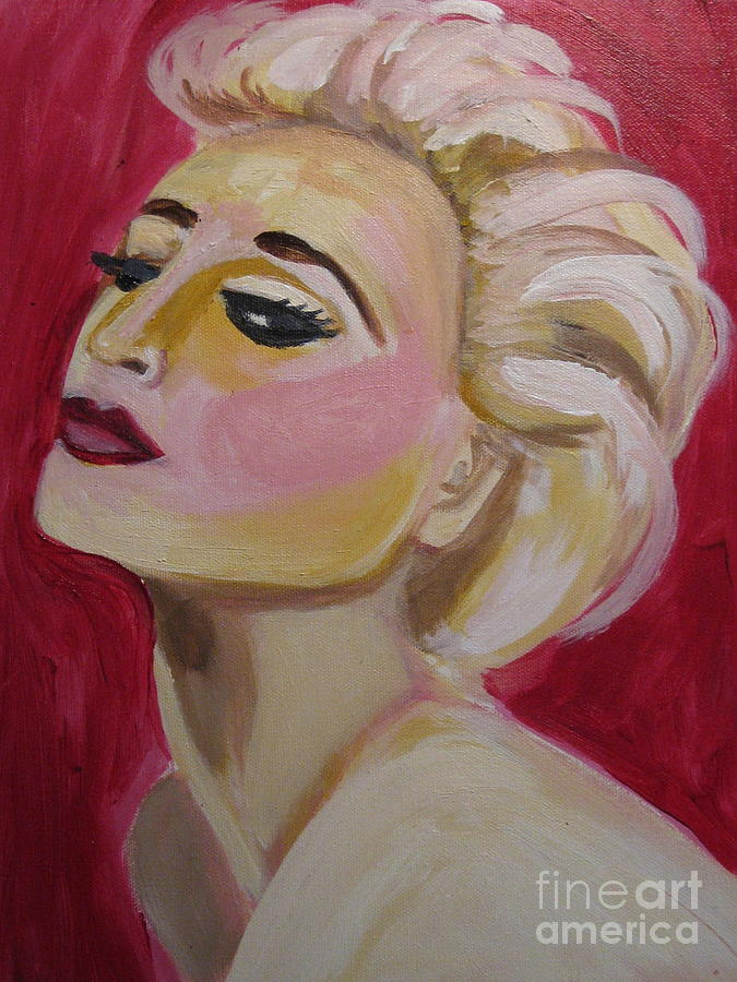 Madonna Red Hot Painting