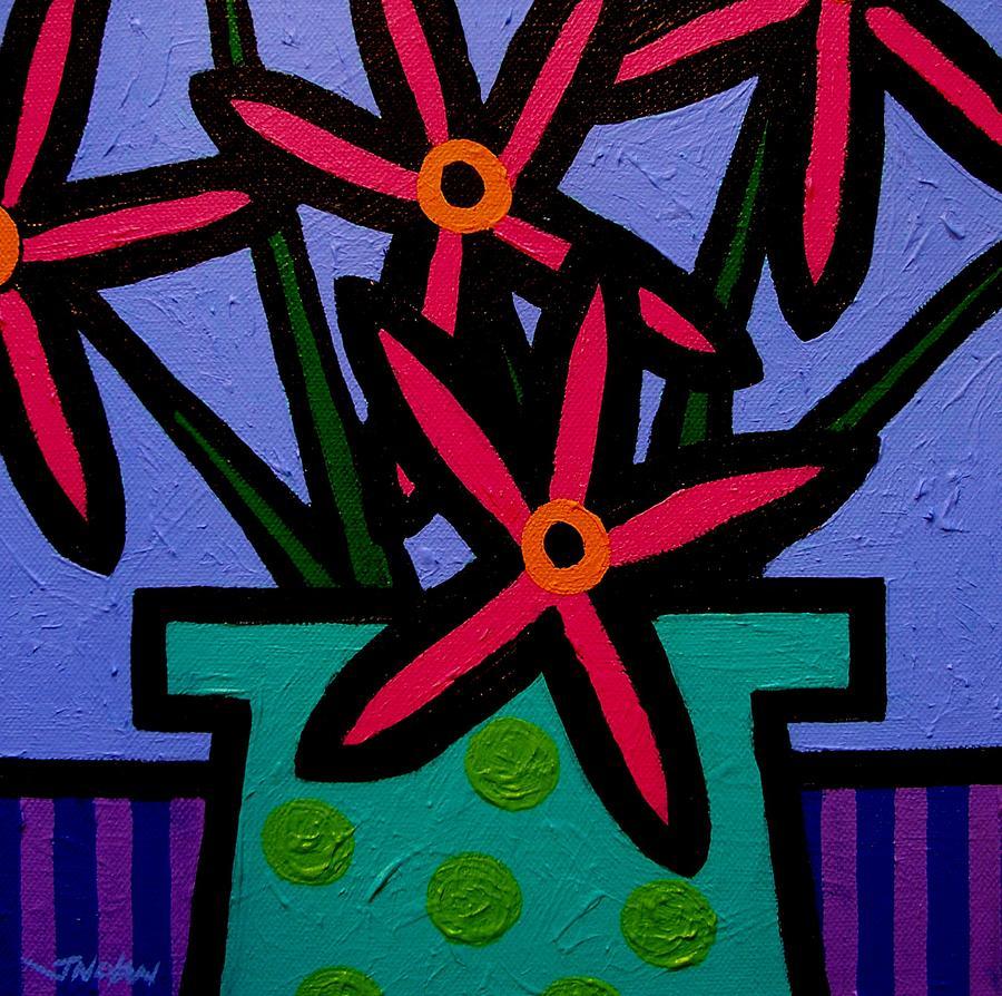Magenta Flowers Painting