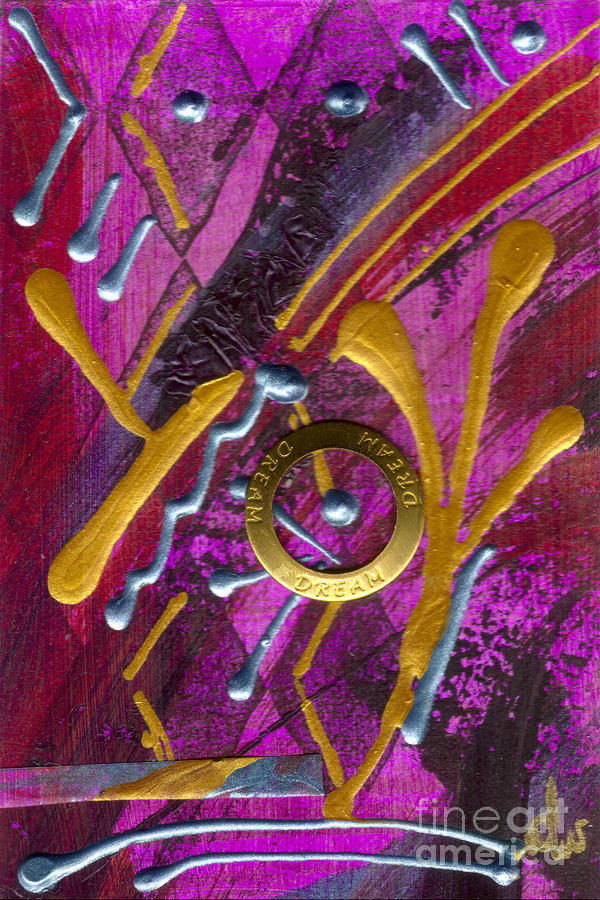Magenta Joy Dreams Mixed Media