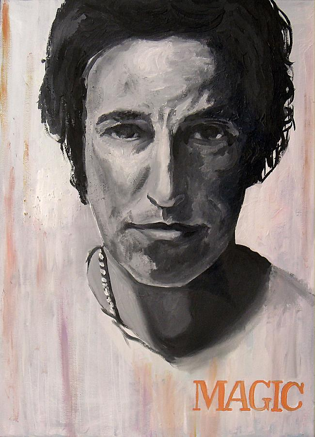 Magic - Bruce Springsteen Painting  - Magic - Bruce Springsteen Fine Art Print