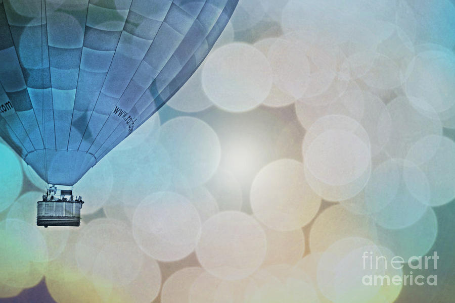 Magic Blue Sky Balloon Photograph  - Magic Blue Sky Balloon Fine Art Print
