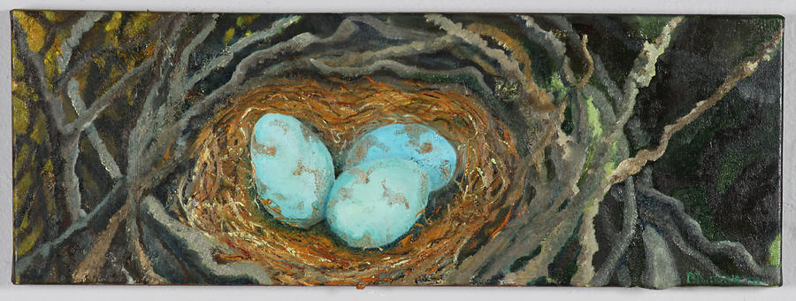 Eggs Painting - Magic Eggs by Judy  Blundell