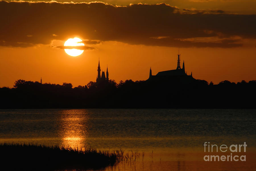 Magic Kingdom Sunset Photograph  - Magic Kingdom Sunset Fine Art Print