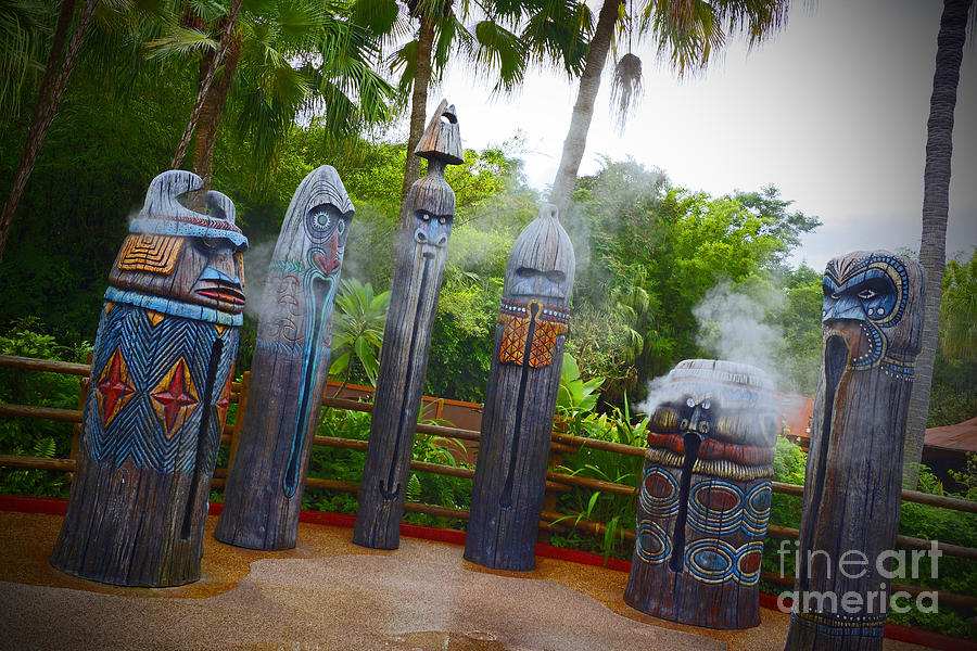 Magic Kingdom - Tiki Statues Photograph  - Magic Kingdom - Tiki Statues Fine Art Print