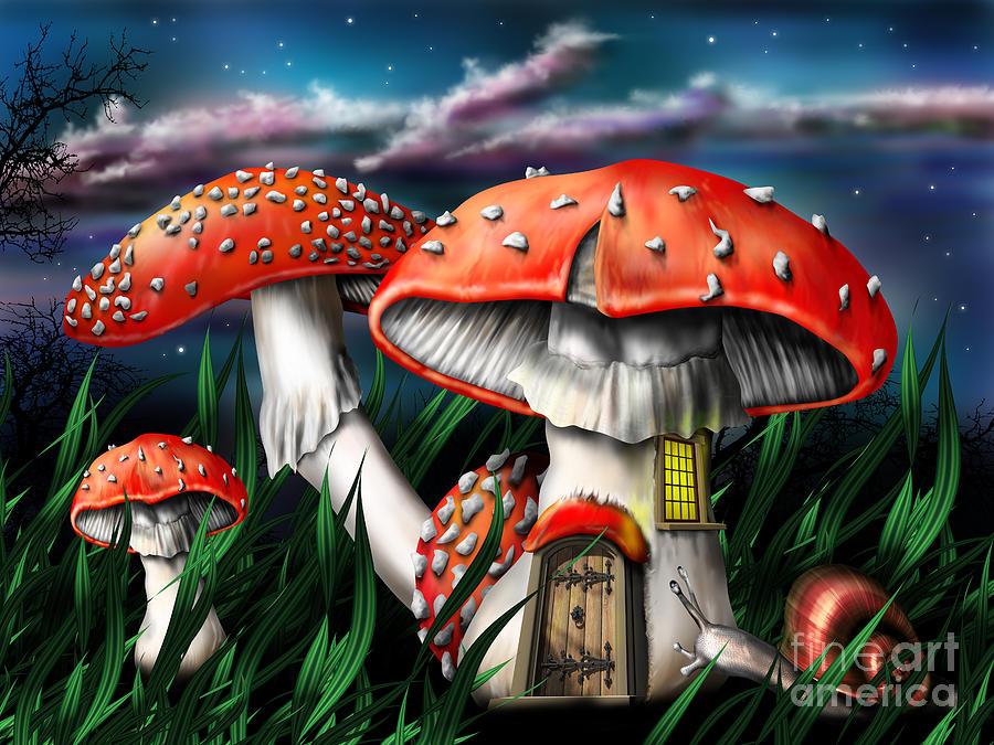 magic mushroom art - photo #23