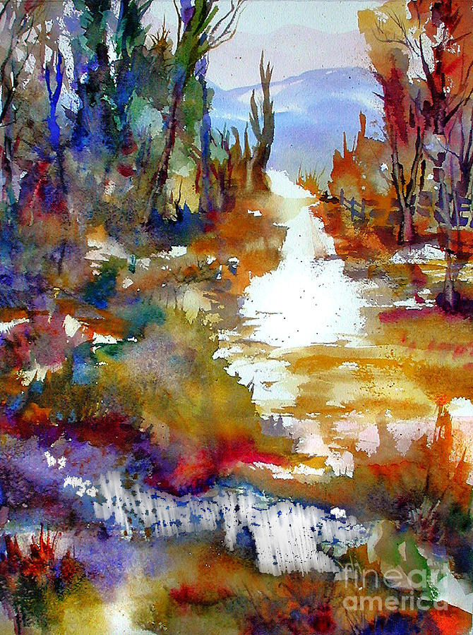 Abstract Painting - Magic Trail by John Mabry