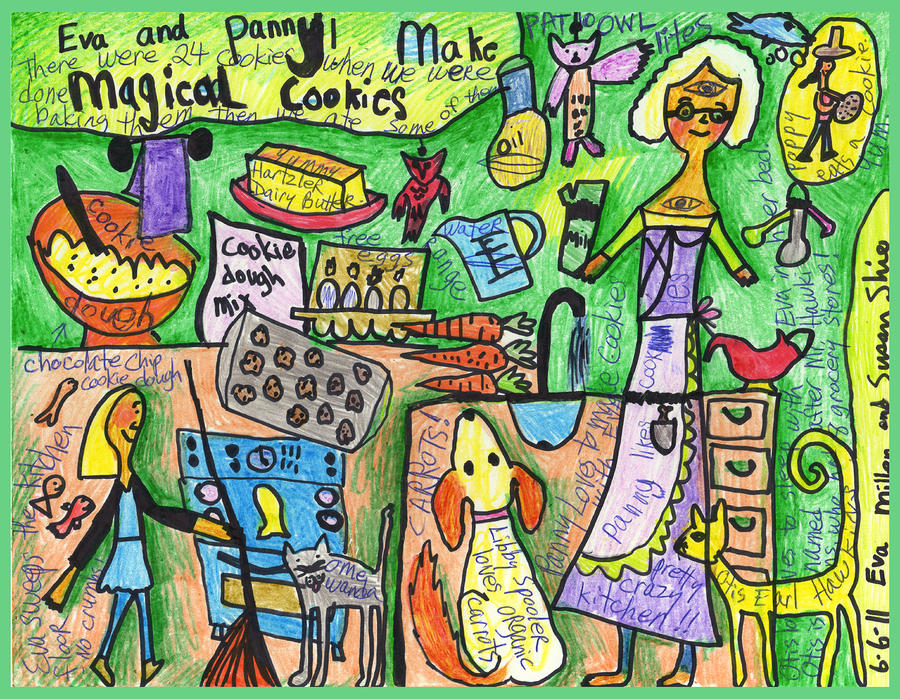 Magical Cookies A Collaboration With Eva Miller Drawing