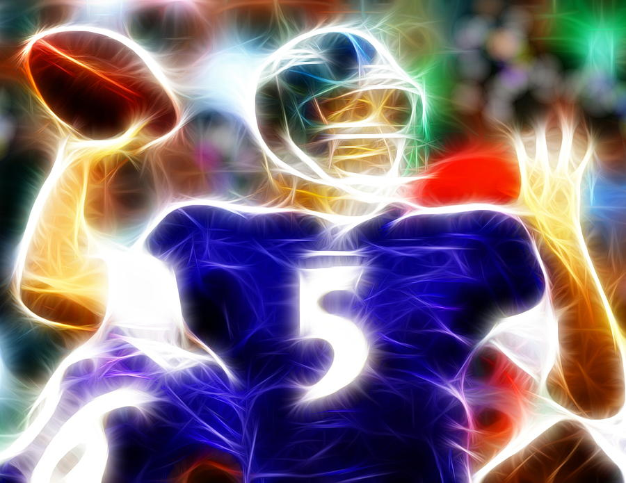 Joe Flacco Painting - Magical Joe Flacco by Paul Van Scott