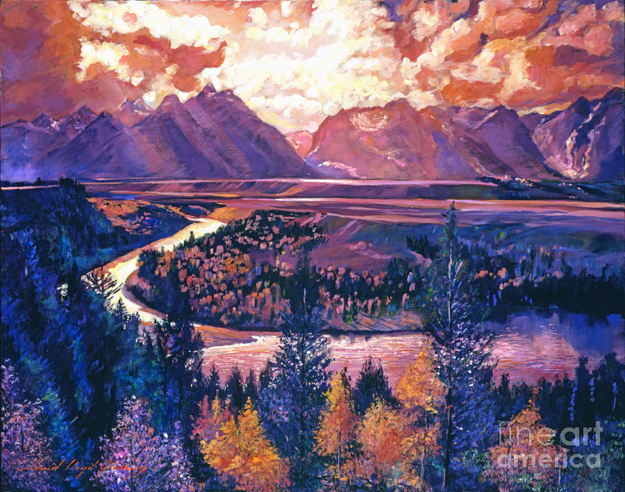 Magnificent Grand Tetons Painting  - Magnificent Grand Tetons Fine Art Print
