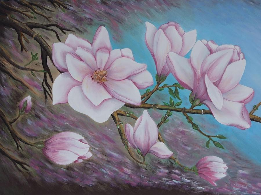 magnolia painting - photo #23