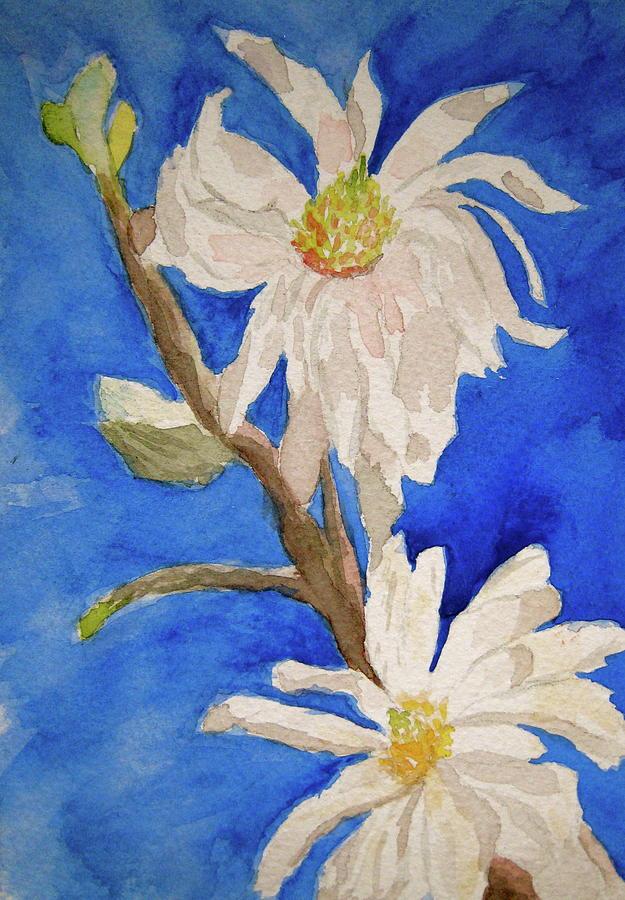 Magnolia Stellata Blue Skies Painting