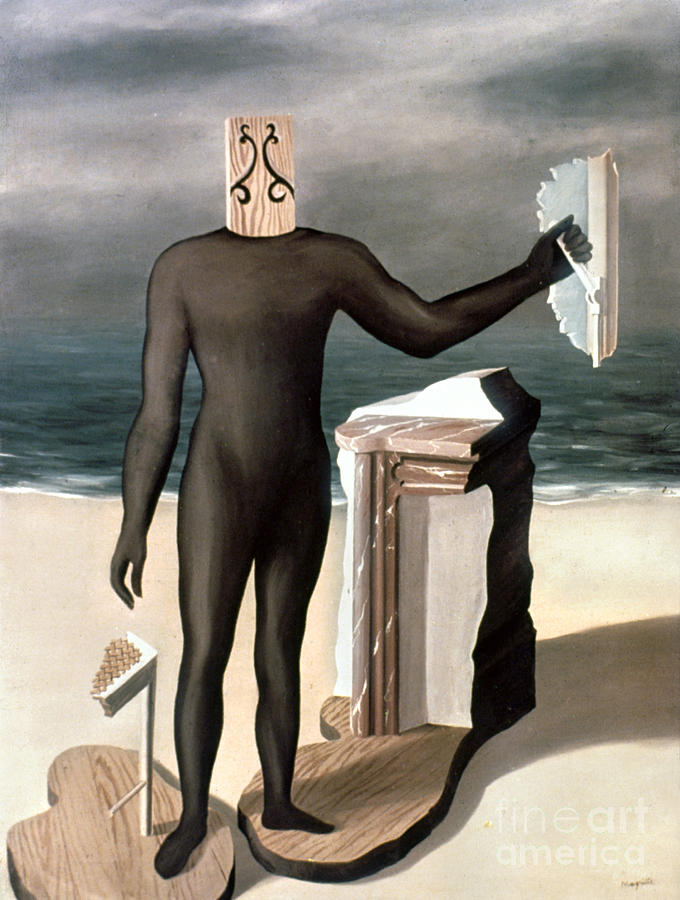 Magritte: Man From The Sea Photograph