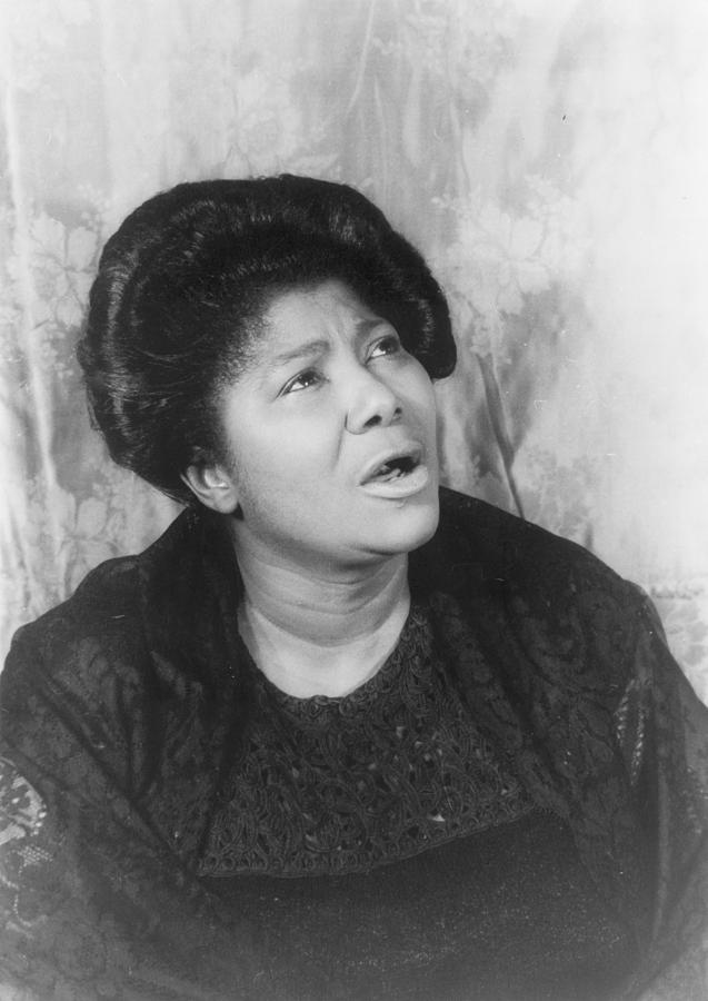 Mahalia Jackson, Portrait By Carl Van Photograph