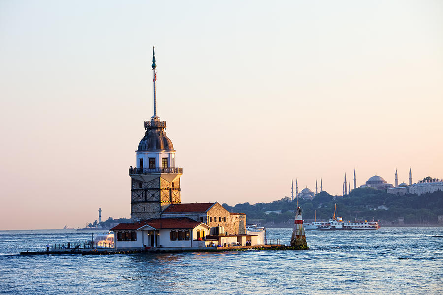 Maiden Tower In Istanbul Photograph  - Maiden Tower In Istanbul Fine Art Print
