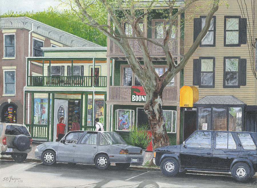 main st so Piermont NY Painting
