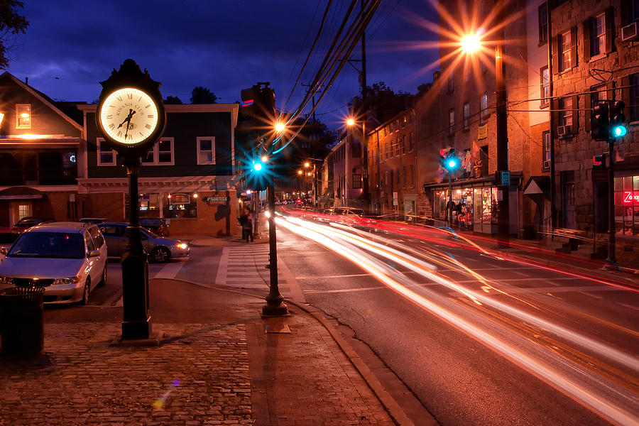 Main Street Traffic Photograph  - Main Street Traffic Fine Art Print