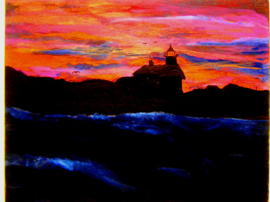 Maine Lighthouse Painting