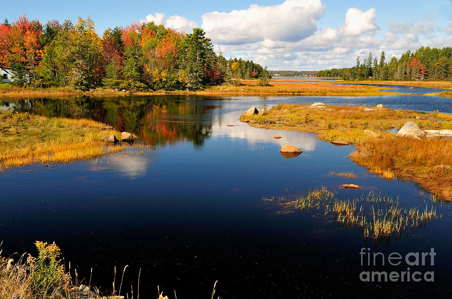 Maine Waterway Photograph  - Maine Waterway Fine Art Print