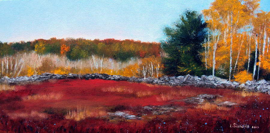 Maine Wild Blueberries Painting