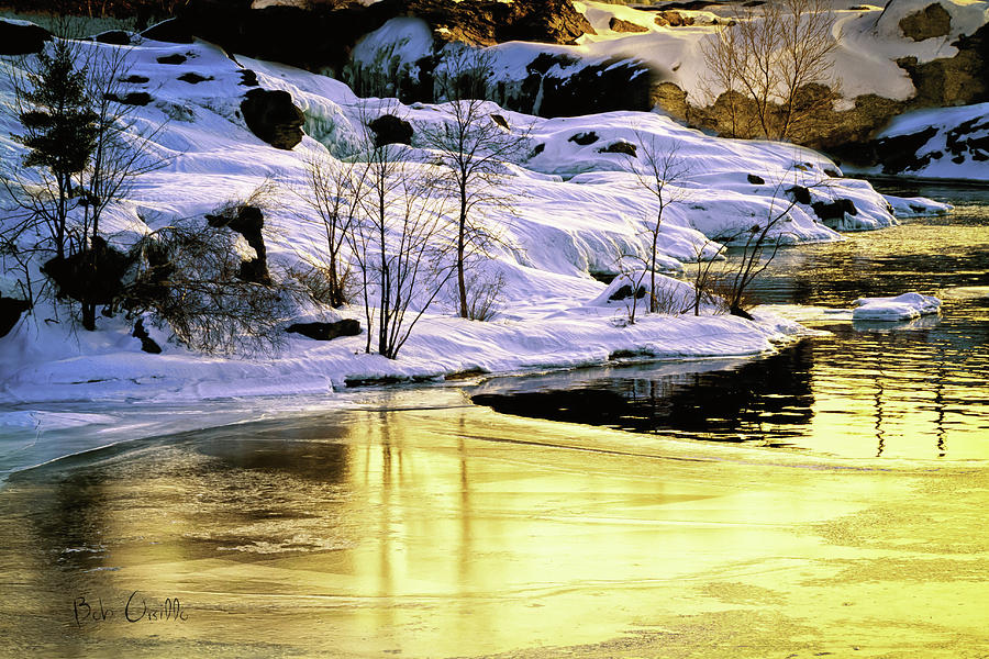 Maine Winter Along The Androscoggin River Photograph  - Maine Winter Along The Androscoggin River Fine Art Print