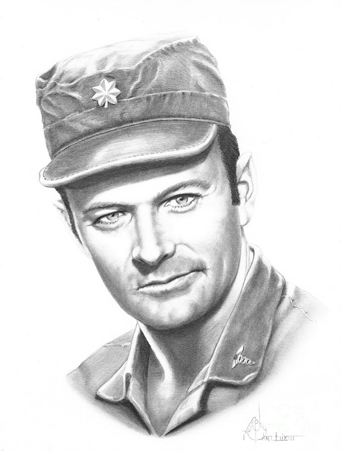 Major Frank Burns Drawing