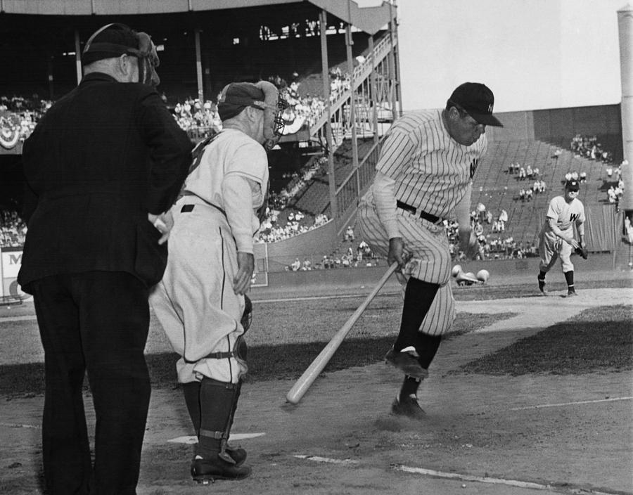 1940s Photograph - Major League Baseball. From Left Former by Everett