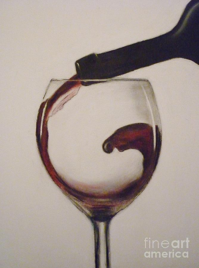 Make Mine A Red Wine Pastel  - Make Mine A Red Wine Fine Art Print