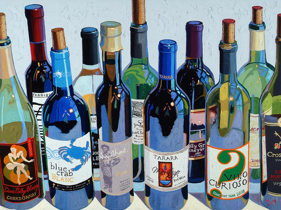 Make Mine Virginia Wine Number Three Painting