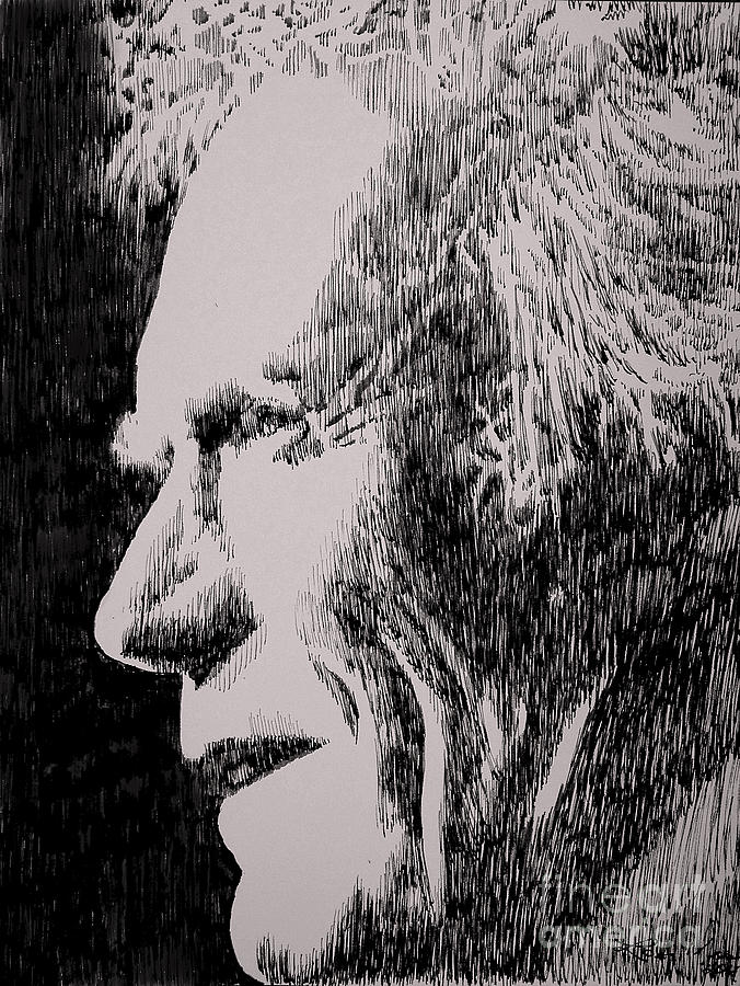 Clint Eastwood Drawing - Make My Day by Robbi  Musser