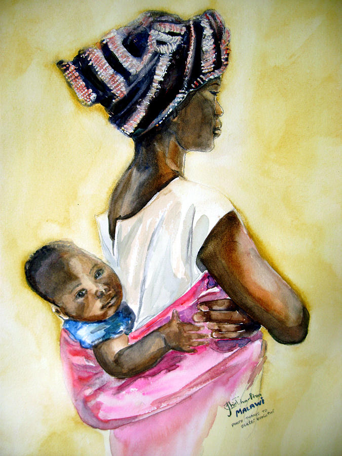 Malawian Mother Painting
