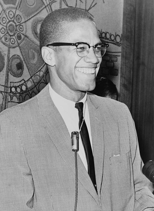 Malcolm X 1925-1965 Speaking In 1964 Photograph