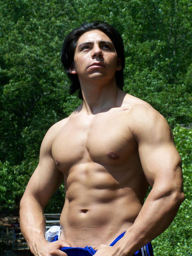 Male Latino Muscle Photograph  - Male Latino Muscle Fine Art Print