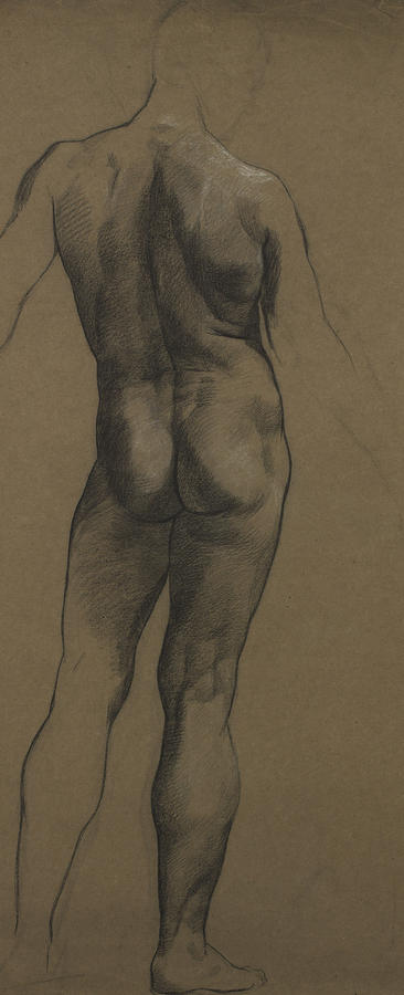 Male Nude Study Painting