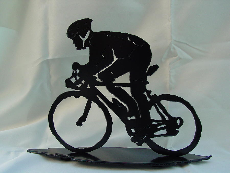Male Road Racer Sculpture